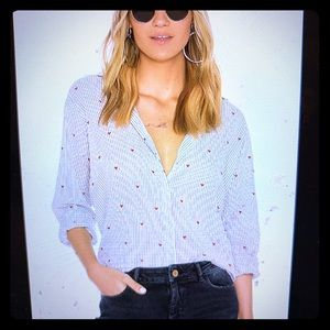Button down heart top